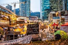 Rivoluzione dell'ombrello in Hong Kong 2014 Immagini Stock