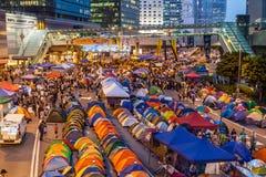 Rivoluzione dell'ombrello in Hong Kong 2014 Immagine Stock Libera da Diritti