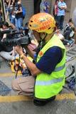 Rivoluzione dell'ombrello a Hong Kong Immagine Stock Libera da Diritti