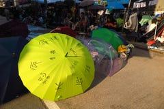 Rivoluzione dell'ombrello in Mong Kok Immagine Stock