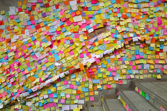Rivoluzione dell'ombrello nella baia della strada soprelevata Fotografia Stock Libera da Diritti