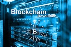 Rivoluzione di Blockchain, tecnologia dell'innovazione nell'affare moderno immagini stock libere da diritti