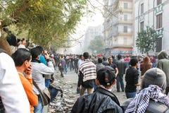 Rivoluzione massiccia a Il Cairo, Egitto Fotografia Stock