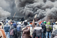 Rivoluzione in Ucraina. Fotografia Stock Libera da Diritti