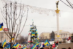Rivoluzione in Ucraina immagini stock libere da diritti