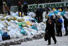 Rivoluzione in Ucraina immagini stock