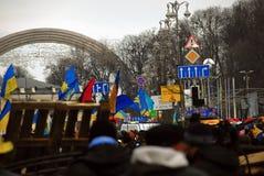Rivoluzione in Ucraina fotografia stock