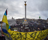 Rivoluzione ucraina, Euromaidan. fotografie stock libere da diritti
