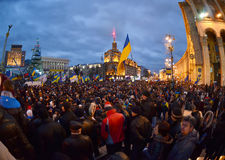 Rivoluzione ucraina, Euromaidan. immagini stock