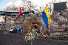 Rivoluzione ucraina, Euromaidan dopo un attacco dal governo f Fotografie Stock