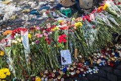 Rivoluzione ucraina, Euromaidan dopo un attacco dal governo f Immagine Stock Libera da Diritti