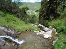 Rivulet en montagne, Bosnie Image stock