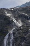 Rivulet falls from glacier Royalty Free Stock Photo