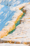 Rivulet with turquoise water on the mountain Stock Photography