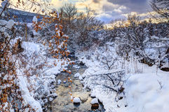 Rivulet during winter Stock Photos