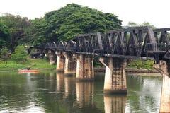 Riwer kwai. Bridge Over River Kwai in kanchanaburi Stock Images