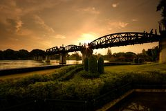Riwer Kwai Bridge Stock Images