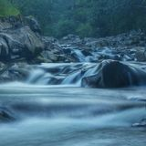 Riwer wild. Water in long exposure Royalty Free Stock Photo