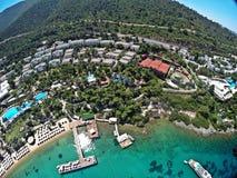 Rixos优质博德鲁姆旅馆,土耳其 免版税库存照片