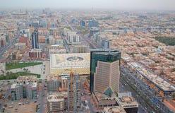 Riaydh. RIYADH - FEBRUARY 29: Aerial view of Riyadh downtown on February 29, 2016 in Riyadh, Saudi Arabia stock image