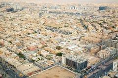 Riaydh. RIYADH - FEBRUARY 29: Aerial view of Riyadh downtown on February 29, 2016 in Riyadh, Saudi Arabia royalty free stock images
