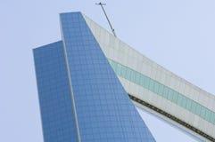 RIYADH - 17 mei: Al Mamlaka Tower en Omgeving op 17 Mei, 20 Stock Foto