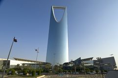 RIYADH - 21 octobre : Al Mamlaka Tower et environs sur Octobe Image libre de droits