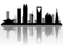 Riyadh Saudi Arabia skyline silhouette Stock Photo