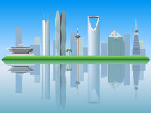 Riyadh Saudi Arabia skyline silhouette Royalty Free Stock Photo