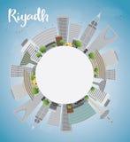 Riyadh skyline with grey buildings and blue sky Royalty Free Stock Image
