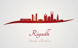 Riyadh skyline in red Stock Image