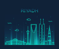 Riyadh skyline trendy vector illustration linear Stock Image