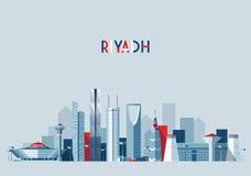 Riyadh skyline, vector illustration, flat design. Style Royalty Free Stock Photo