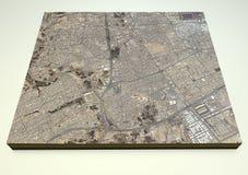 Riyadh straten en gebouwen 3d kaart, Saudi-Arabië Stock Foto's