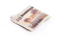 Riyal - Arabic Money on white Royalty Free Stock Images