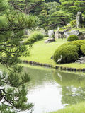 Riykugien庭院池塘,东京 库存照片