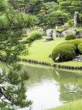 Riykugien Garden pond, Tokyo Stock Photo