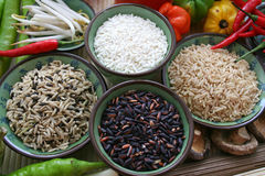 Riz asiatique Images stock