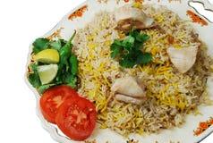Riz asiatique de poulet Image libre de droits