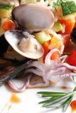 Riz avec des fruits de mer Photos libres de droits