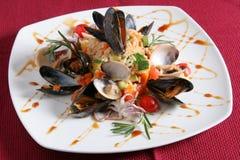 Riz avec des fruits de mer Image stock