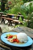 Riz avec des fruits de mer et des légumes Photo libre de droits