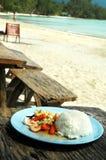 Riz avec des fruits de mer et des légumes Image libre de droits