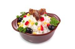 Riz avec des légumes Images stock