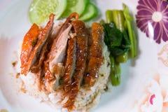 Riz avec le canard de rôti Image stock