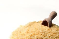 Riz blanc et cuillère en bois et cuillère Image libre de droits