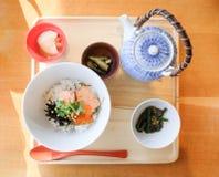 Riz bouilli par Japonais, Ochazuke Image libre de droits