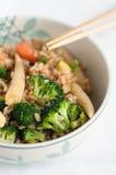 Riz brun avec des légumes image libre de droits