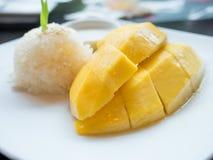 Riz collant de mangue Photographie stock libre de droits