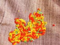 riz coloré de textures image stock